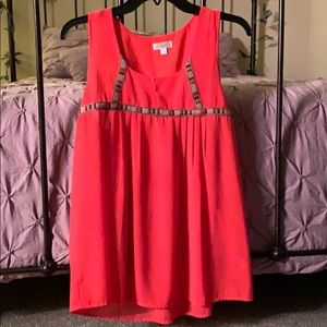 L CharmingCharlie tank top...polyester material